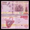 Burundi 2015 - 2000 francs, necirculata