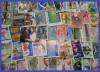 Plic filatelic - 100 de timbre straine diferite, stampilate