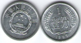 China 1987 - 1 fen, circulata