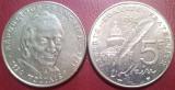 Franta 1994 - 5 franci, circulata - comemorativa Voltaire