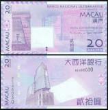 Macau 2013 - 20 patacas, aUNC - banca Ultramarino