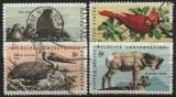 Statele Unite 1972 - Conservarea faunei sălbatice, serie stampilata