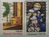 Statele Unite 1980 - Crăciun, serie stampilata