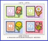 Ungaria 1974 - flori, bloc neuzat