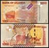 Uganda 2017 -  1000 shillings, necirculata