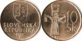 Slovacia 2003 - 10 korun, circulata