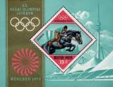 Ungaria 1972 - Jocurile Olimpice München, colita neuzata