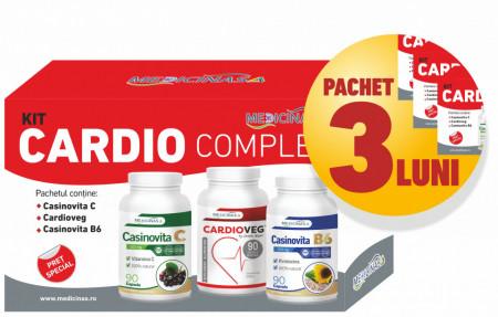 3 x Kit Cardio Complex - pentru combaterea afecțiunilor cardiovasculare