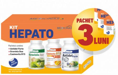 3 x Kit Hepato - Pentru sustinerea functiilor hepatice si protectia ficatului