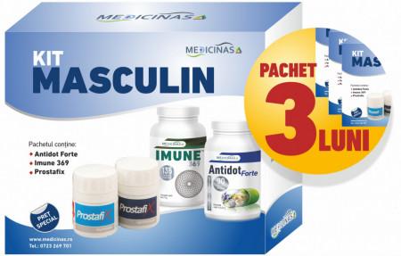 3 x Kit Masculin - Pentru sustinerea imunitatii si refacerea celulara la barbati