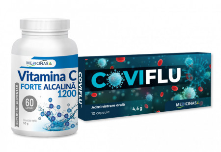 Coviflu + Vitamina C FORTE ALCALINĂ