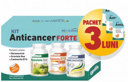"""3 x KIT Anticancer FORTE - împotriva cancerului cu metastaze + GRATUIT cartea """"Ce mănânci ca să combați cancerul"""""""