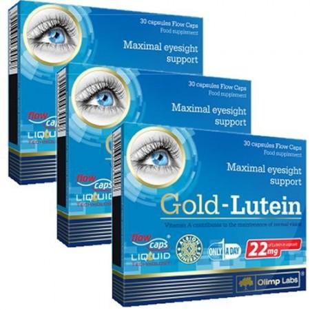 Poze Gold Lutein 3 x 30 cps pachet pe 3 luni