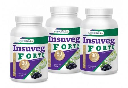 Insuveg Forte (Insulina vegetală) - Pachet 3 luni + cartea Alimentația Antidiabet GRATUIT