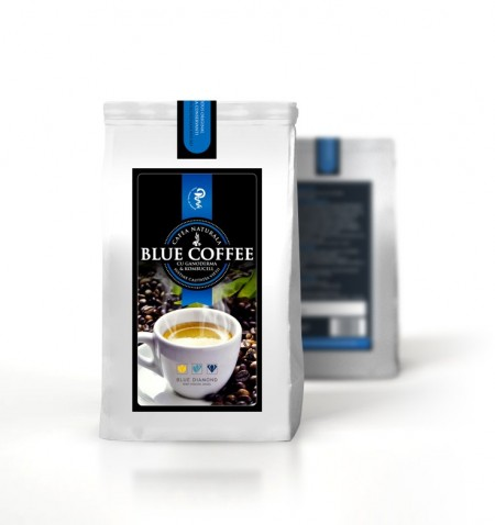Blue Coffee - cafea naturală 100 % cu Ganoderma & Kombucell
