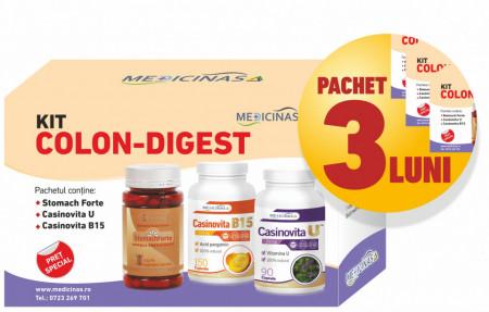 3 x Kit Colon-digest - Pentru sanatatea stomacului si colonului
