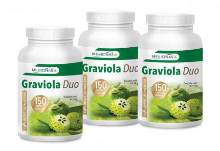 """Graviola - Pachet Promo 3 luni + GRATUIT cartea """"Ce mănânci ca să combați cancerul"""""""
