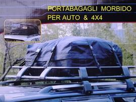 BOX AUTO MORBIDO PORTABAGAGLI TETTO BAULE 4X4 immagini