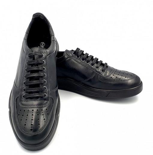 Pantofi sport barbati din piele naturala Dan culoarea Negru