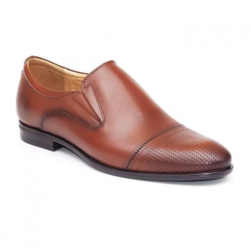 Pantofi eleganti barbati Luxemburg maro (piele naturala)