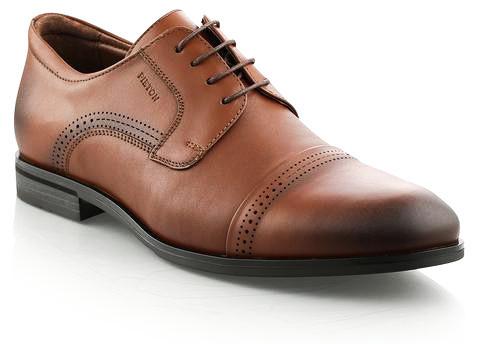 Pantofi eleganti barbati Pieton maro deschis (piele naturala)