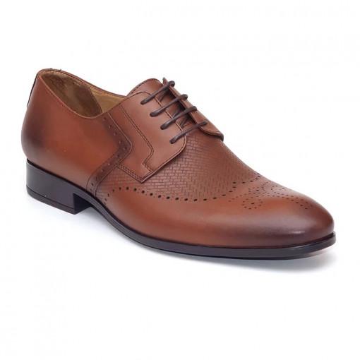 Pantofi eleganti barbati Monte Carlo maro (piele naturala)