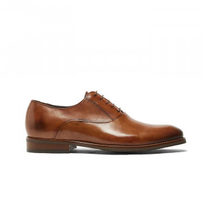 Pantofi eleganti lux barbati Bond maro deschis model Oxford (piele naturala)