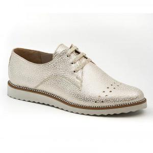 Pantofi sport dama Danna alb-sidefiu (piele naturala)