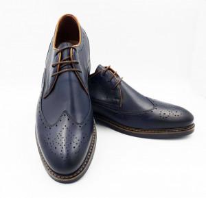 Pantofi casual barbati Still bleu inchis (piele naturala)