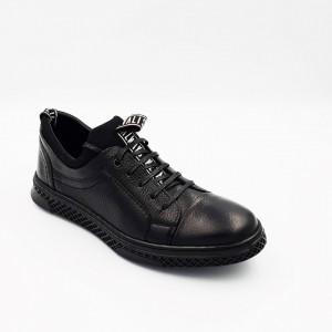 Pantofi sport barbati din piele naturala Dima Negru