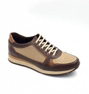 Pantofi sport barbati din piele naturala Nevalis maro