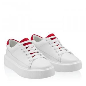 Pantofi sport dama Lucy Labes alb (piele naturala)