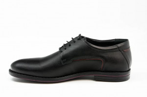 Pantofi casual barbati Bucovina negru visiniu (piele naturala)