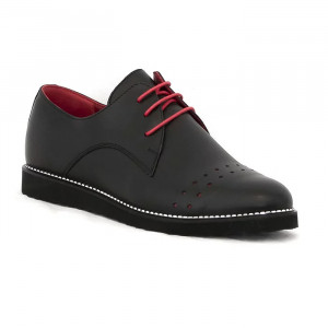 Pantofi casual dama Anna negru (piele naturala)