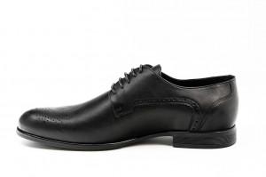 Pantofi eleganti barbati Baroc negru (piele naturala)