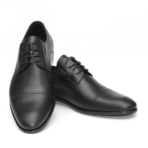 Pantofi eleganti barbati Dublin negru inchis. (piele naturala)