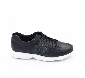 Pantofi sport dama din piele naturala Anda Negru