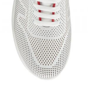 Pantofi sport dama Lady M alb rosu (piele naturala)