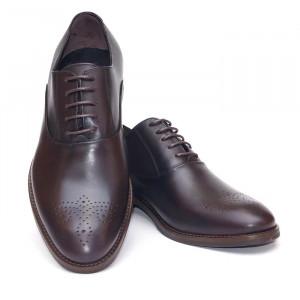 Pantofi eleganti barbati Oxford maro inchis (piele naturala)