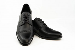 Pantofi eleganti barbati Pieton negru (piele naturala)
