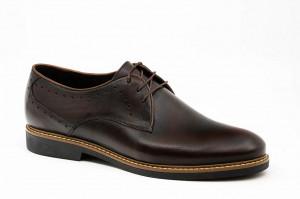 Pantofi casual barbati Still maro inchis (piele naturala)
