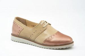 Pantofi casual dama Riana nud-bej (piele naturala)