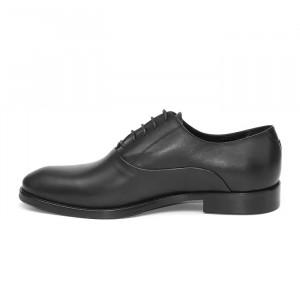 Pantofi eleganti barbati Oxford negru (piele naturala)