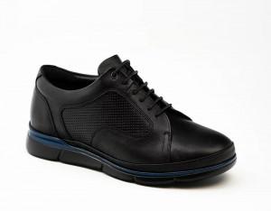 Pantofi sport barbati Dobrin negru (piele naturala)