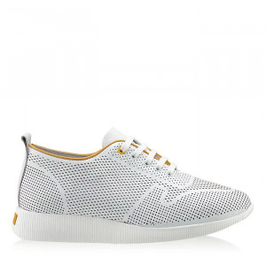 Pantofi sport dama Lady M alb (piele naturala)