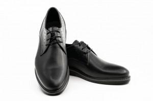 Pantofi casual barbati Still negru (piele naturala)