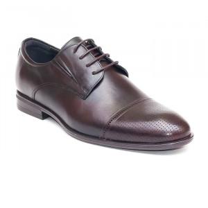 Pantofi eleganti barbati Dublin maro inchis (piele naturala)