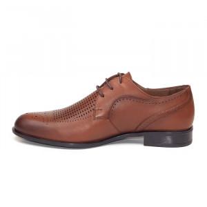 Pantofi eleganti barbati Belgium Maro (piele naturala)