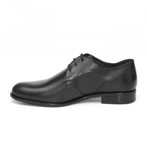 Pantofi eleganti barbati Praga negru (piele naturala)