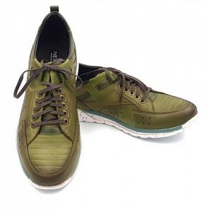 Pantofi sport barbati din piele naturala LUXURY GREEN